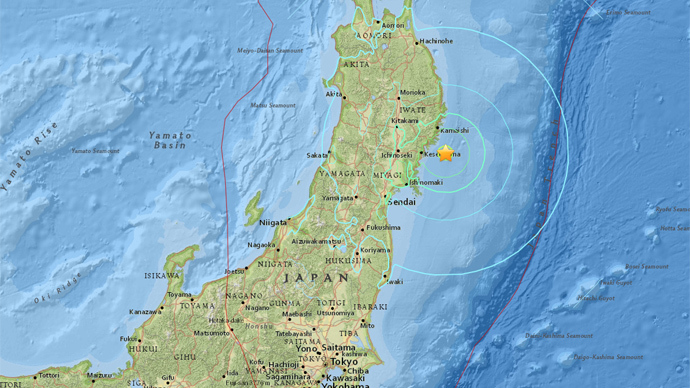 6.8 earthquake strikes off Japan's Honshu Island