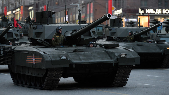 A T-14 Armata tank.(RIA Novosti / Mikhail Voskresenskiy)