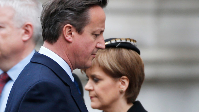 Scottish showdown: SNP leader Sturgeon & PM Cameron to hold talks