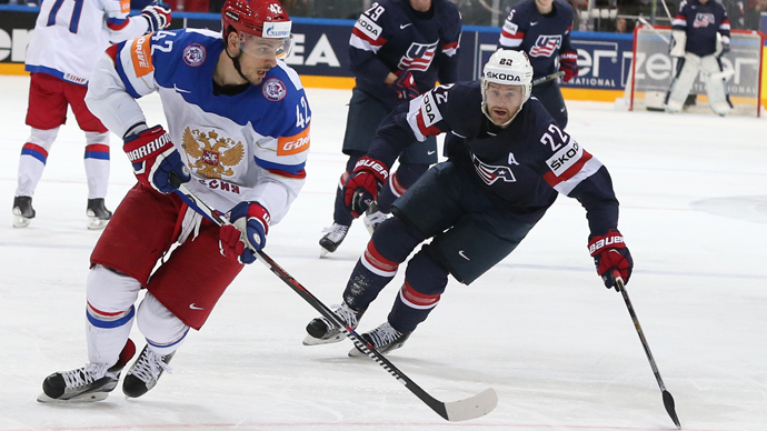 Russia tops US to set up world hockey final against Canada