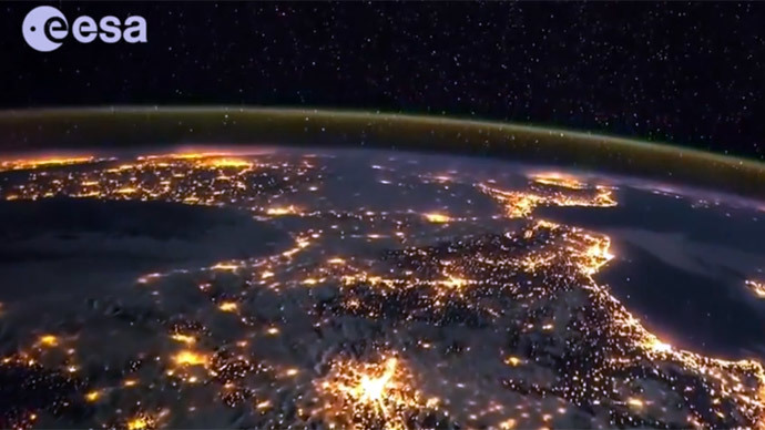 Breathtaking timelapse video shows nightlight Earth from space