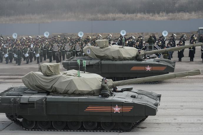 A T-14 tank with the Armata Universal Combat Platform (RIA Novosti / Ramil Sitdikov)