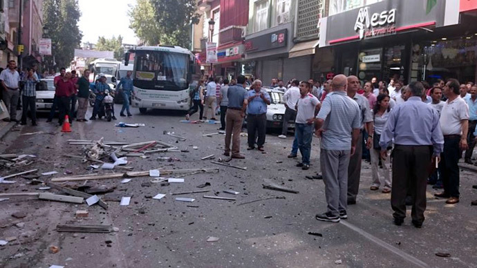 Simultaneous explosions at pro-Kurdish party HQs in Turkey (PHOTOS)