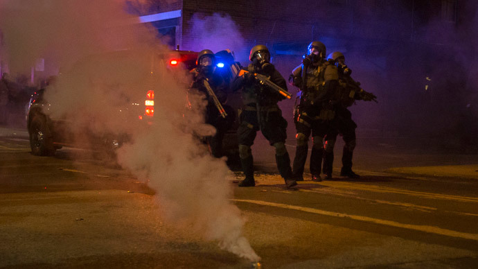 White House announces rules to limit military-style weaponry, riot gear for police