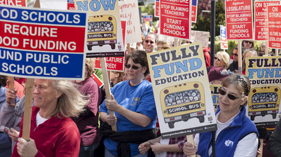 School's out! Seattle teachers stage 1st strike in 30 years for higher pay
