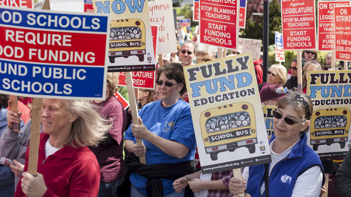 ​Schools close in Seattle as thousands of teachers wage day-long strike