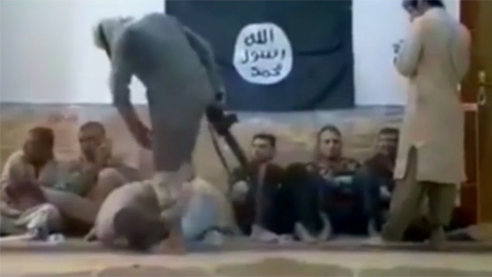 Disturbing footage of ISIS punishing own fighters for smoking