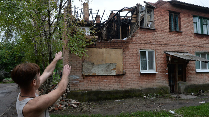 ARCHIVE PHOTO: A house in the residential settlement Malaya Vergunka, on the outskirts of Lugansk, ruined by a Ukrainian air raid (RIA Novosti / Mikhail Voskresenskiy)