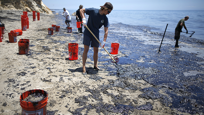 Volunteers strive to clean CA beaches, save wildlife after massive oil spill (PHOTO, VIDEO)