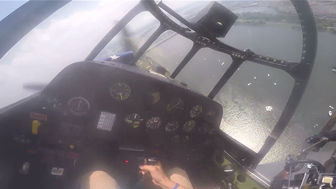 'Are we on fire?' Edge-of-your-seat cockpit footage of VE Day flyover emergency landing