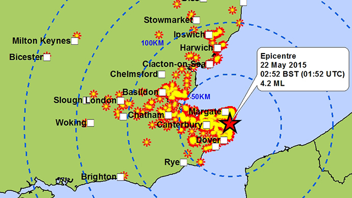 ​4.3 quake hits Kent coast, tips over garden chairs & sparks Twitter satire