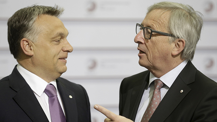 'Dictator is coming!' Hungarian PM heckled by European Commission chief (VIDEO)
