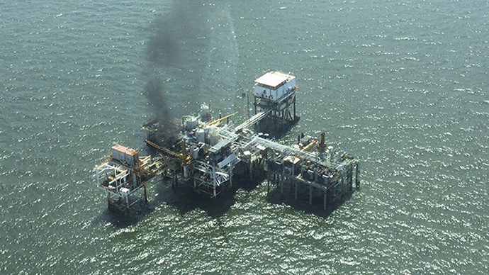 Oil platform ablaze in Gulf of Mexico, 28 workers evacuated – Coast Guard
