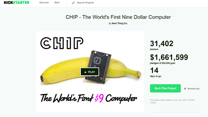 Tiny $9 computer CHIP rocks Kickstarter, promising tons of free apps