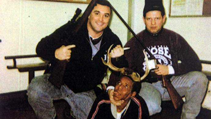 Crooked Chicago cops put antlers on black man's head in 'trophy' photo revealed by court