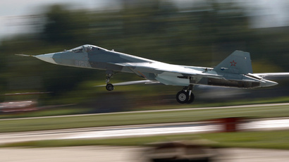 Russia's 5G PAK-FA T-50 fighter debuts with stunt program at MAKS-2015 (VIDEO)