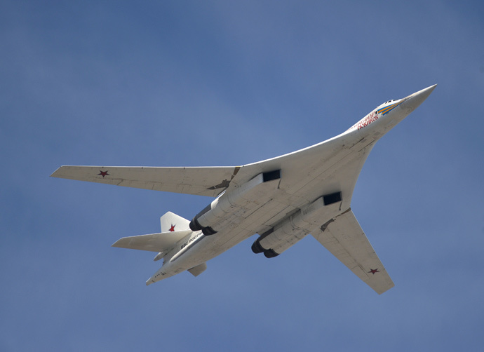 "The Tu-160 heavy strategic bomber ""Alexander Novikov"" (RIA Novosti / Alexei Druzhinin)"