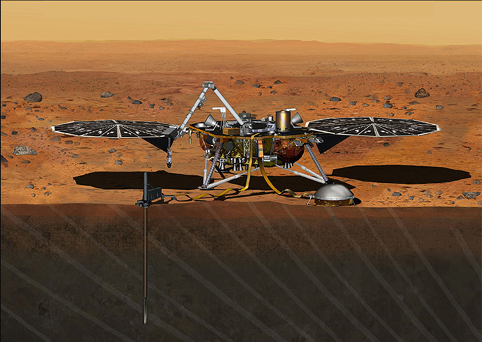 Artist's Concept of InSight Lander on Mars (Credit: NASA/JPL-Caltech)