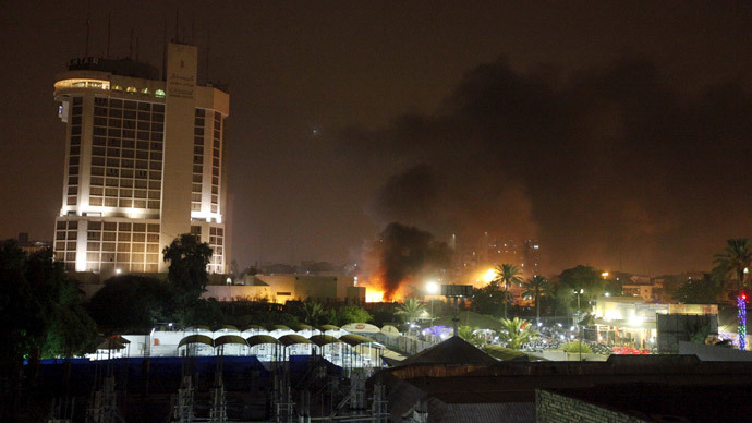10 killed by car blasts at two luxury Baghdad hotels