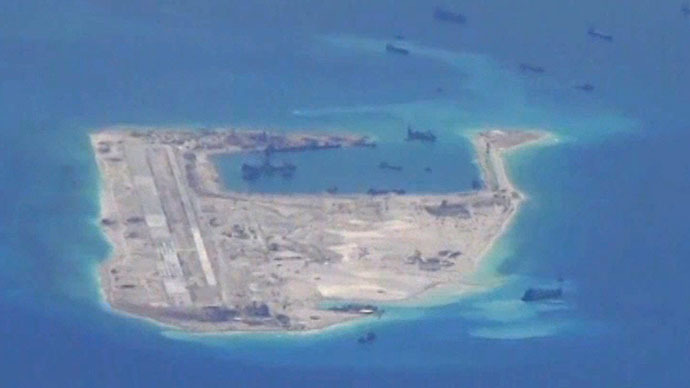 Chinese mobile artillery placed on reclaimed island, Pentagon says
