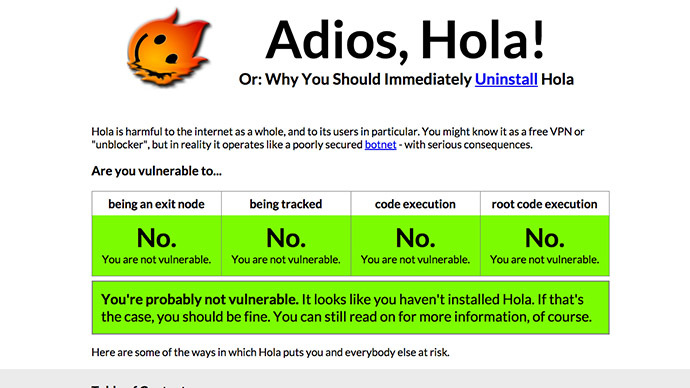 Adios, Hola! Popular privacy-minded browser plug-in has backdoor for hackers - report