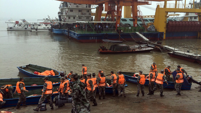 Passenger ship with over 450 people sinks in Chinese river