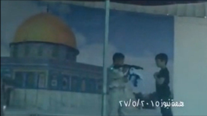 Screenshot from the Jerusalem Post video.