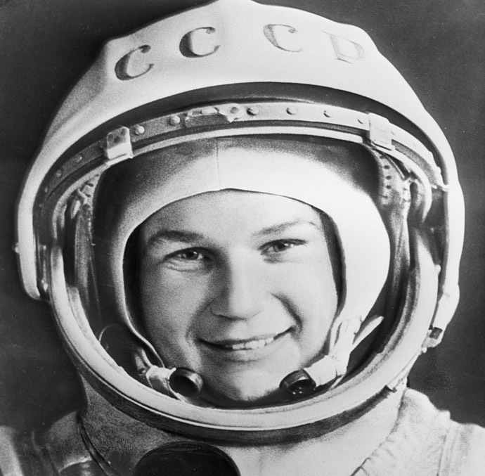 Pilot-cosmonaut Valentina Tereshkova. Photo reproduction. (RIA Novosti)