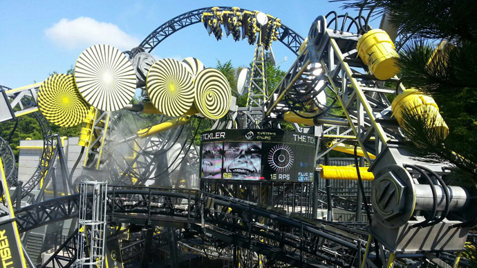 Rollercoaster carriages collide at UK's Alton Towers theme park, 4 seriously injured