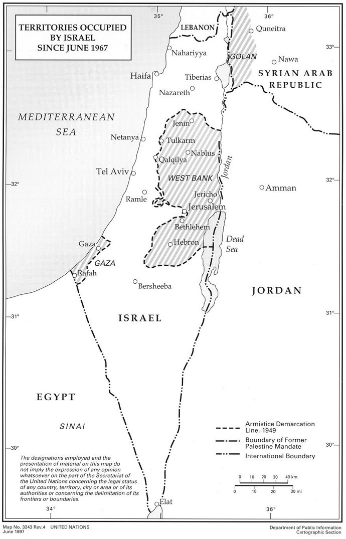 Source: United Nations Information System on the Question of Palestine (UNISPAL)