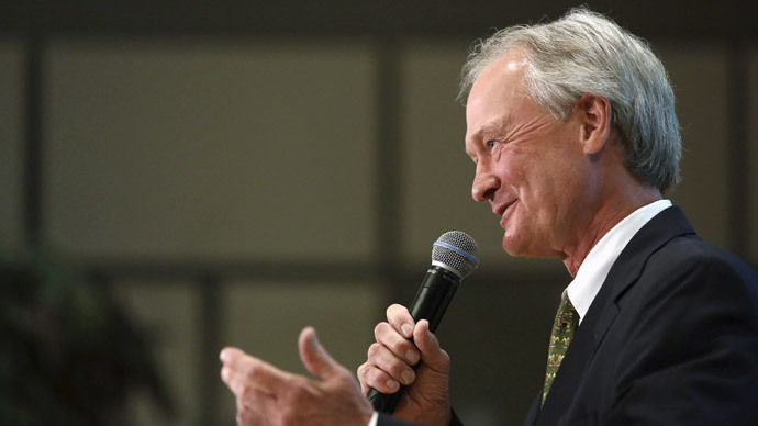 Fastest way to kilo a candidacy: Chafee calls for switch to metric in presidential bid