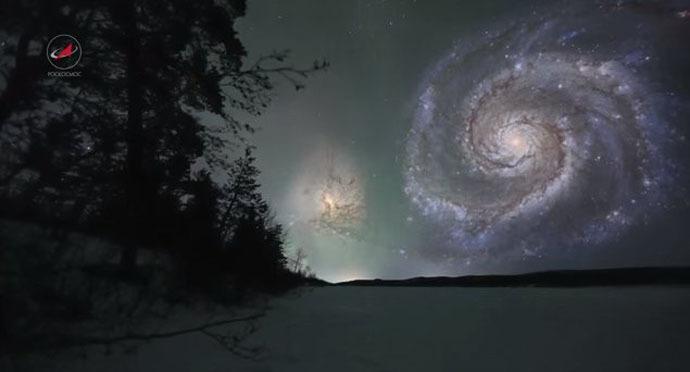 Whirpool Galaxy (Still from youtube video/roskosmos studios)