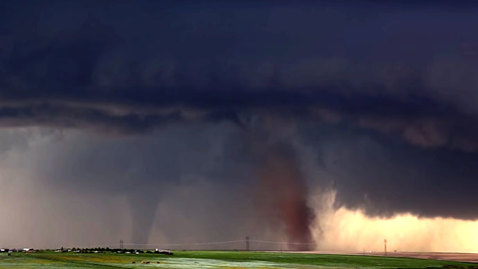Twin twisters: Stunning photo shows tornadoes dancing across Colorado