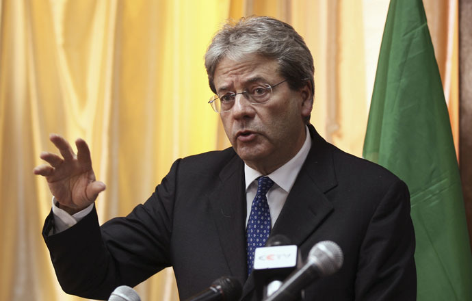 Italy's Foreign Minister Paolo Gentiloni (Reuters/Tiksa Negeri)