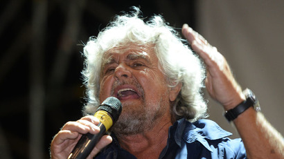 Five Stars movement's leader and former comedian Beppe Grillo (AFP Photo/Filippo Monteforte)