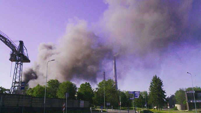 Estonia rare metals plant catches fire, threat of toxic smoke as roof collapses