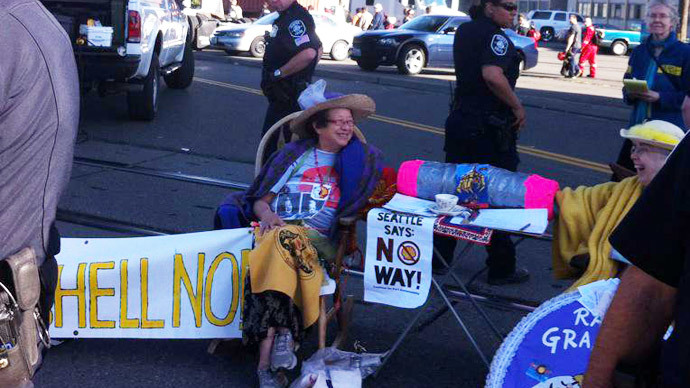 Grannies protesting Shell's Arctic drilling arrested in Seattle