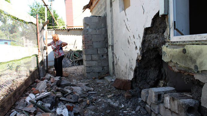 Residential districts 'intensively' shelled near Donetsk airport