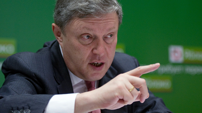 Yabloko party wants founder Yavlinskiy to run for presidency