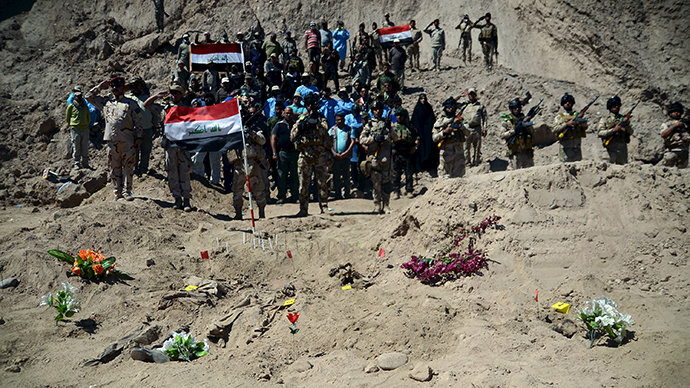 Nearly 600 'martyrs' of ISIS massacre exhumed from mass grave in Iraq