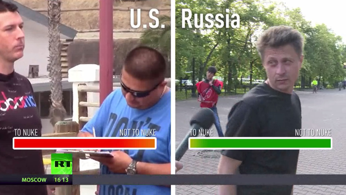 'Are you crazy?' People in Moscow widely oppose fake petition to nuke America (VIDEO)