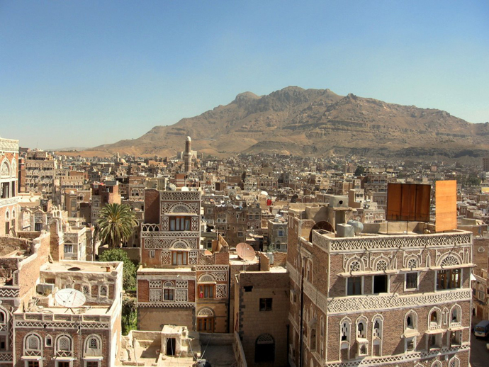 The Old Town of Sanaa, Yemen (image from wikipedia.org by flickr user ai@ce)