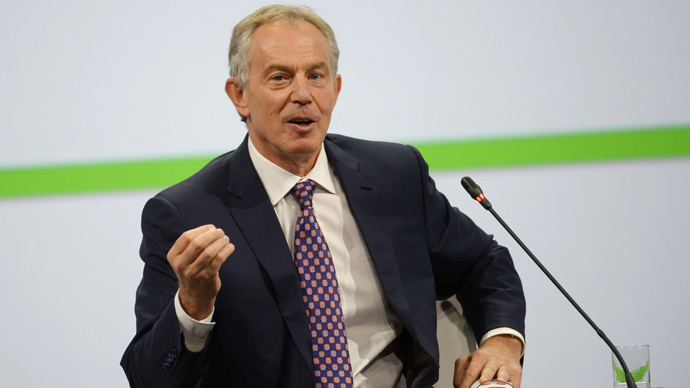 Tony Blair attends Russian economic forum, days after receiving Ukrainian job offer