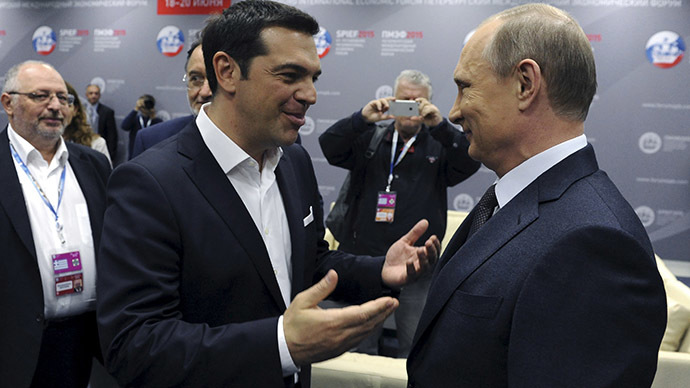 Putin: €2bn Russia-Greece gas deal will help Athens pay its debt