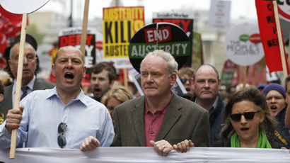 Anti-austerity protest in central London, Britain June 20, 2015. (Reuters / Peter Nicholls)