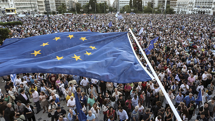 Thousands rally in Athens amid summit to avert 'uncontrollable Grexident'