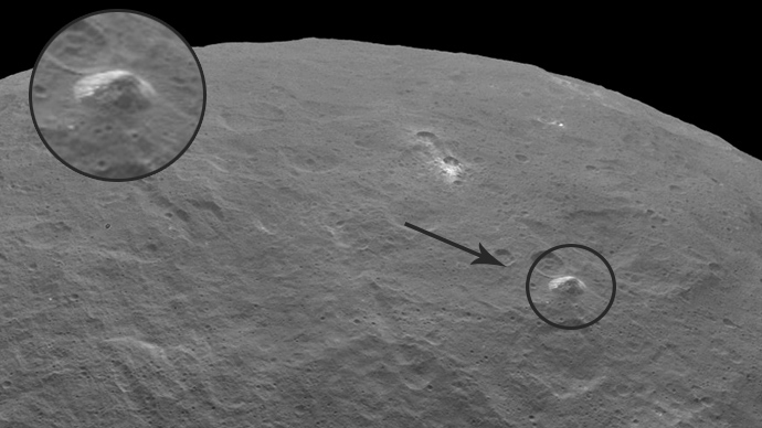 3-mile high 'pyramid peak' spotted on mysterious Ceres dwarf planet