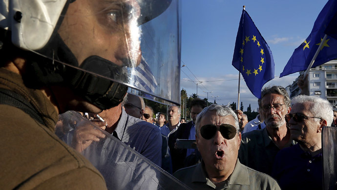 'Totally betrayed': Greek pensioners protest against austerity deal