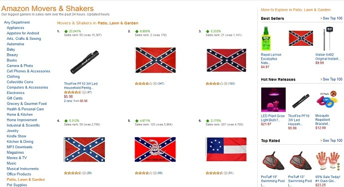 Screenshot from amazon.com/gp/movers-and-shakers