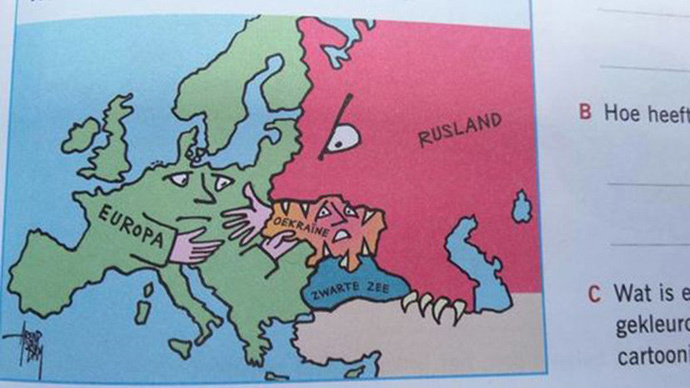 Russia pictured as monster with claws on cartoon map for schoolkids causes stir in Netherlands